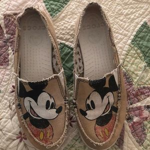 Disney canvas crocs